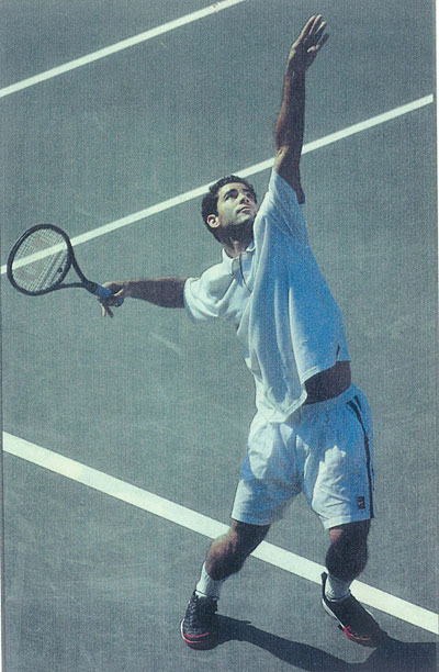 Pete Sampras - look at the fingers on the grip
